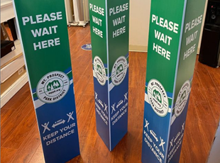 Three Sided Column Signage