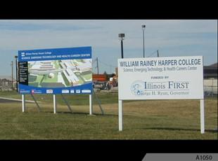 Billboard Signs - Harper College - Palatine - Way back..... A-1050