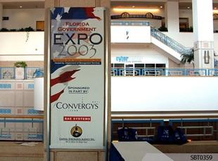 Gov't Expo Sign & Freestanding Frame