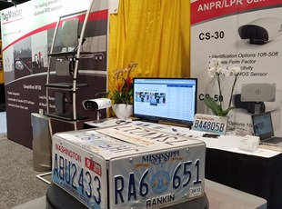Full tradeshow booth with shelf, and retractables