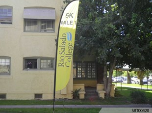 Mile Marker Custom Feather Banner