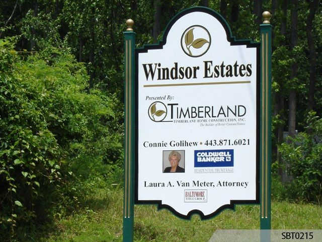 Estate Post and Panel Sign