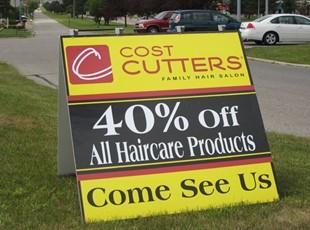 A-Frame for Cost Cutters in Cedar Falls