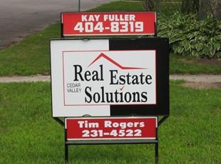 Real Estate Sign & Steel Frame
