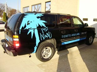 Lost Island Waterpark Vehicle Graphics