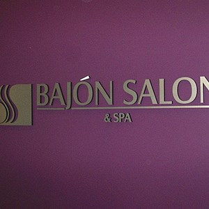 Dimensional Foam Letters Bajon Salon and Spa