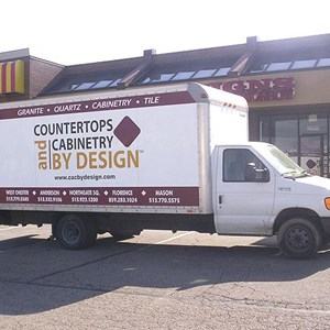Truck Graphics Countertops and Cabinets by Design
