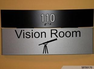 Vision Room ADA Sign