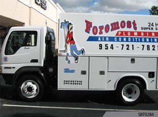 Plumber Vehicle Graphics & Lettering