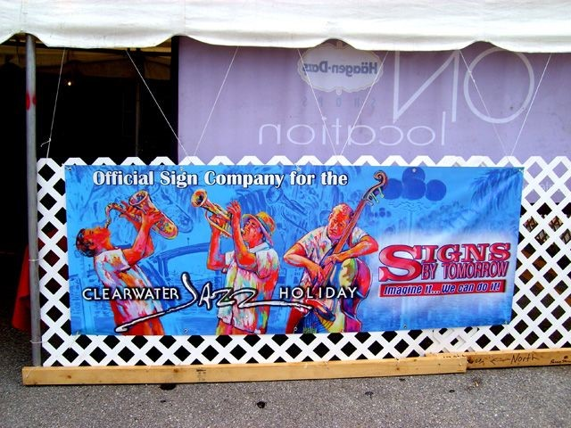 Event Signage - Clearwater Jazz Holiday
