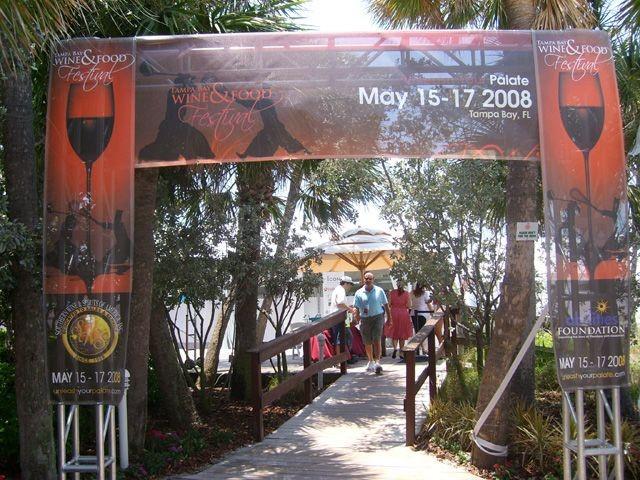 Event Signage - TampaBay Wine & Food Festival