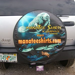 Manatee Shirts & Graphics Tire Cover