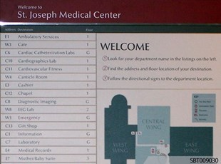 Hospital Interior Directory Sign