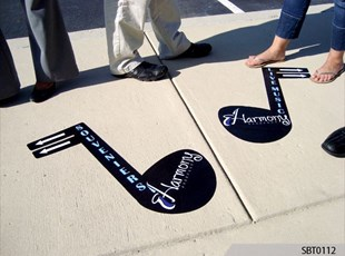 Jazz Festival Sidewalk Directional Graphics