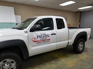 H. Frank Foland Truck Door Lettering | Vehicle Lettering & Graphics | Construction | Frederick, MD