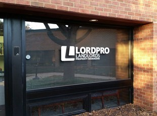 Vinyl Window Lettering for Lordpro Landlords in Frederick, MD