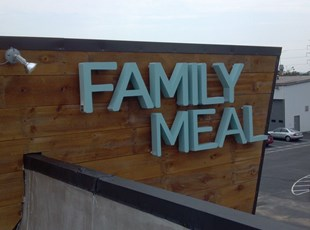 Reverse Lit Channel Letters for Family Meal in Frederick Maryland