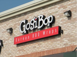 Front Lit Channel Letters for Gogi Bop in Frederick Maryland