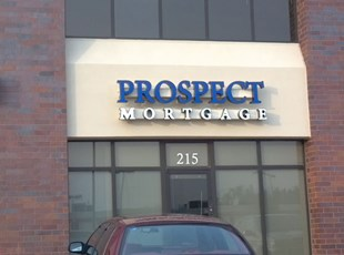 Channel Letters on a Raceway for Prospect Mortgage in Frederick Maryland