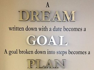 Real Estate Teams | Dream Wall | Indoor Dimensional Lettering | Real Estate | Frederick, MD
