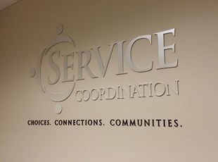 Acrylic Dimensional Lettering for Service Coordination in Frederick Maryland