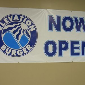 Now Open Banner for Elevation Burger