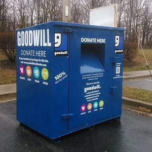 Vinyl Graphics for Goodwill Donation Bins