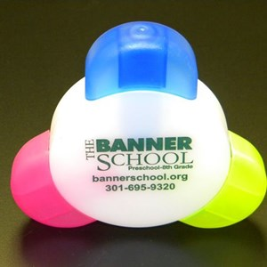 Tri Color Highlighters for The Banner School