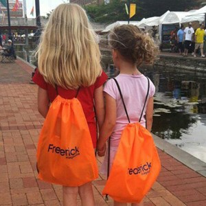 Drawstring Backpacks for Frederick Magazine