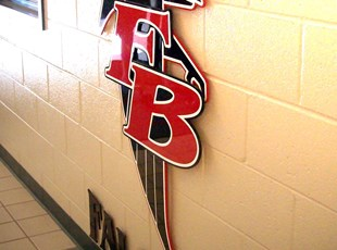 Custom dimensional letters & logo for FBHS