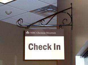 Chestnut Mountain Interior Scroll Sign