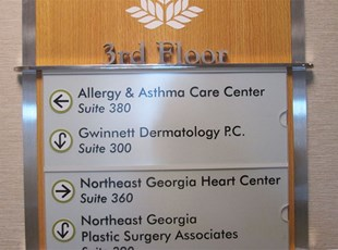 Allergy Clinic sign panels