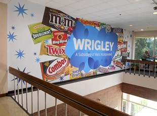 Huge wall wrap for Wrigley