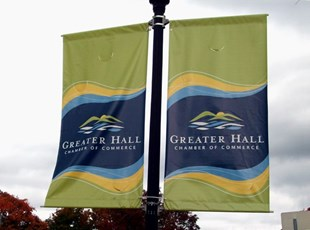 Pole Banners for Greater Hall Chamber of Commerce