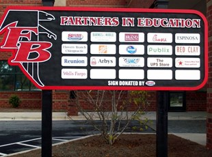 FBHS Partners in Ed sign