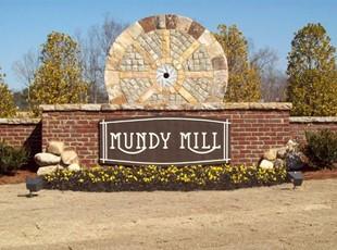 Mundy Mill subdivision - sandblasted sign
