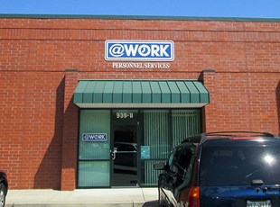 @Work signage and window lettering