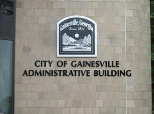City of Gainesville plaque