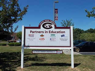 Chestatee H.S. Partners in Ed sign