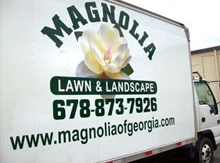 Magnolia Lawn Care box truck