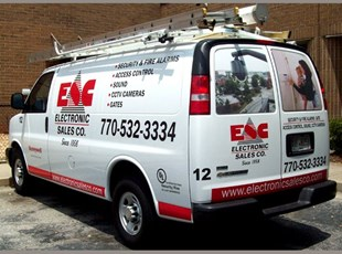 Van lettering with full color perforated vinyl