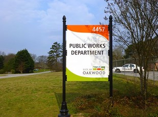 Post & Panel | Parking Signs & Street Signs | Government | Oakwood, GA