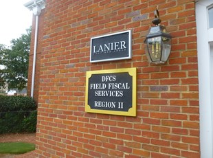 Outdoor Routed & Sandblasted   Reception & Office Signage