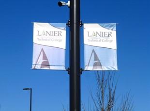 Outdoor Pole Banners | Outdoor Vinyl Banner | Education | Gainesville, GA