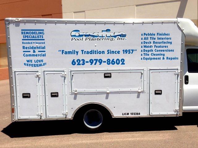 truck lettering cut vinyl glendale