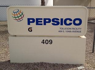 Custom Routered Monument Sign Panels PepsiCo Tolleson Peoria